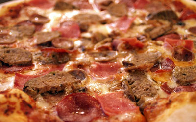 trio meat pizza recipe